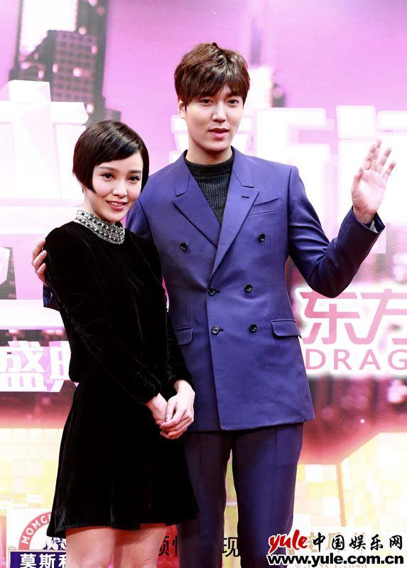 李敏镐亮相东方卫视跨年彩排 郭采洁与其搭档忐忑不安