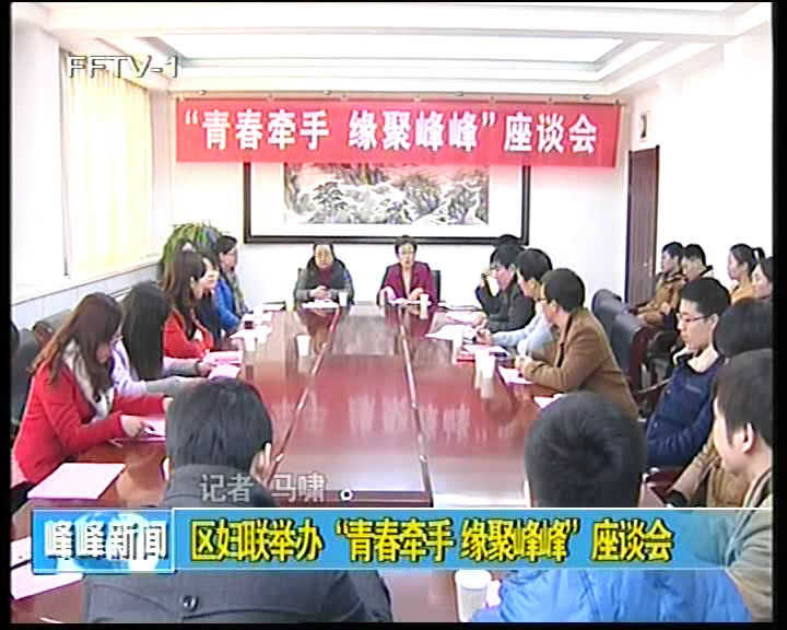 """区妇联举办""""青春牵手 缘聚峰峰""""座谈会"""