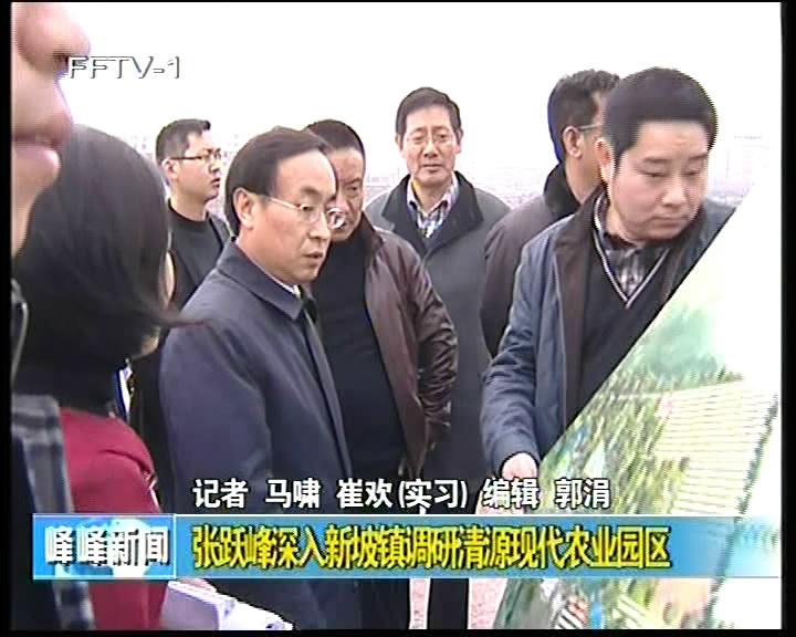 张跃峰深入新坡镇调研清源现代农业园区