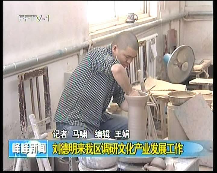 刘德明来我区调研文化产业发展工作