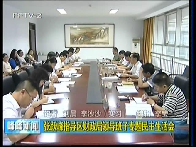 张跃峰指导区财政局领导班子专题民主生活会