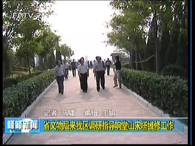 省文物局来峰峰调研指导响堂山宋塔维修工作